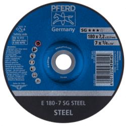 Plieno šlifavimo diskas PFERD E180-7 SG STEEL