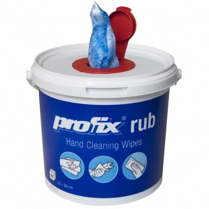 Drėgnos servetėlės su abrazyvu TEMCA Profix Rub
