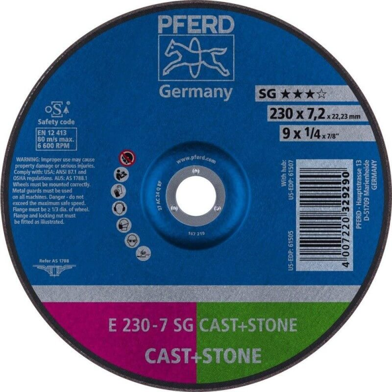 Šlifavimo diskas PFERD E230-7 SG Cast+Iron