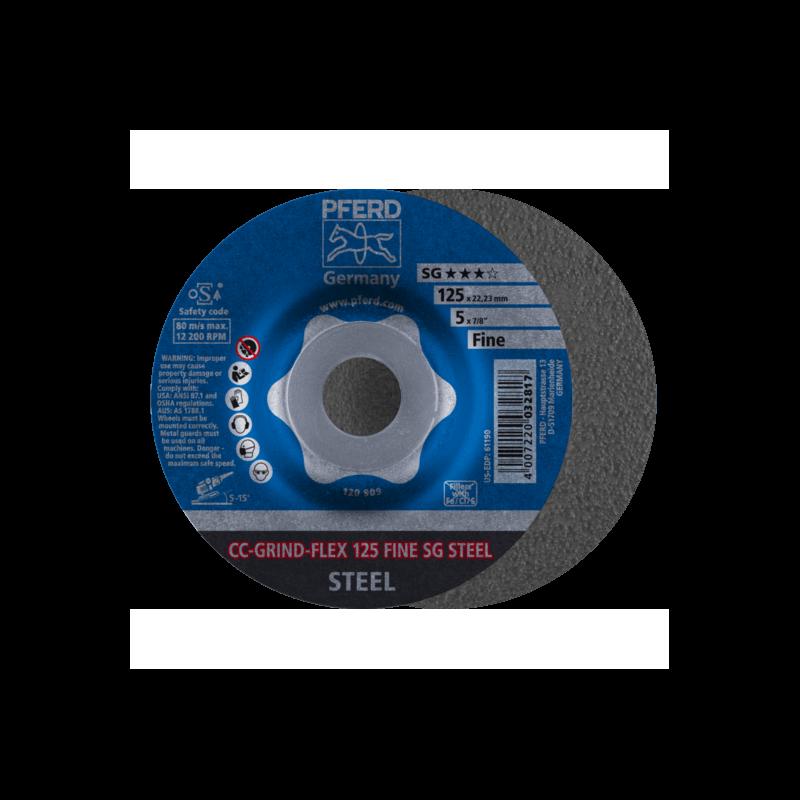 Šlifavimo diskas PFERD CC-GRIND-FLEX 125 SG-Steel Fine