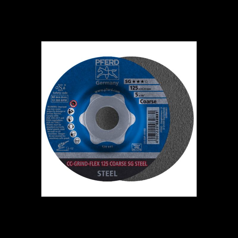 Šlifavimo diskas PFERD CC-GRIND-FLEX 125 SG-Steel Coarse