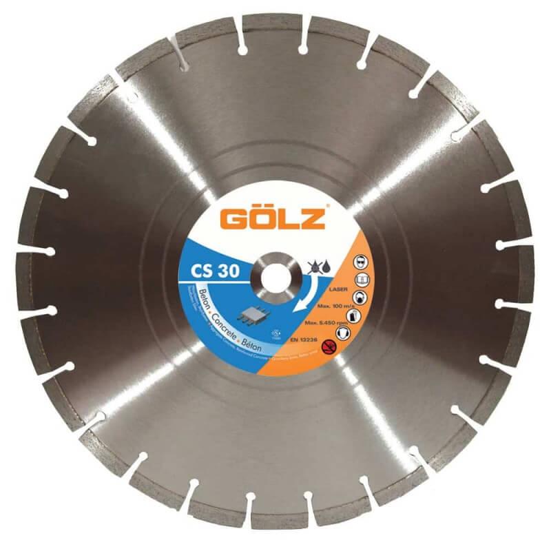 Deimantinis diskas betonui GOLZ CS30 Ø400x25,4mm