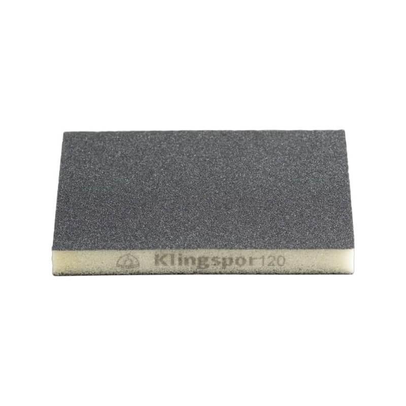 Dvipusė šlifavimo kempinėlė KLINGSPOR SW 502 123x98x10 P120