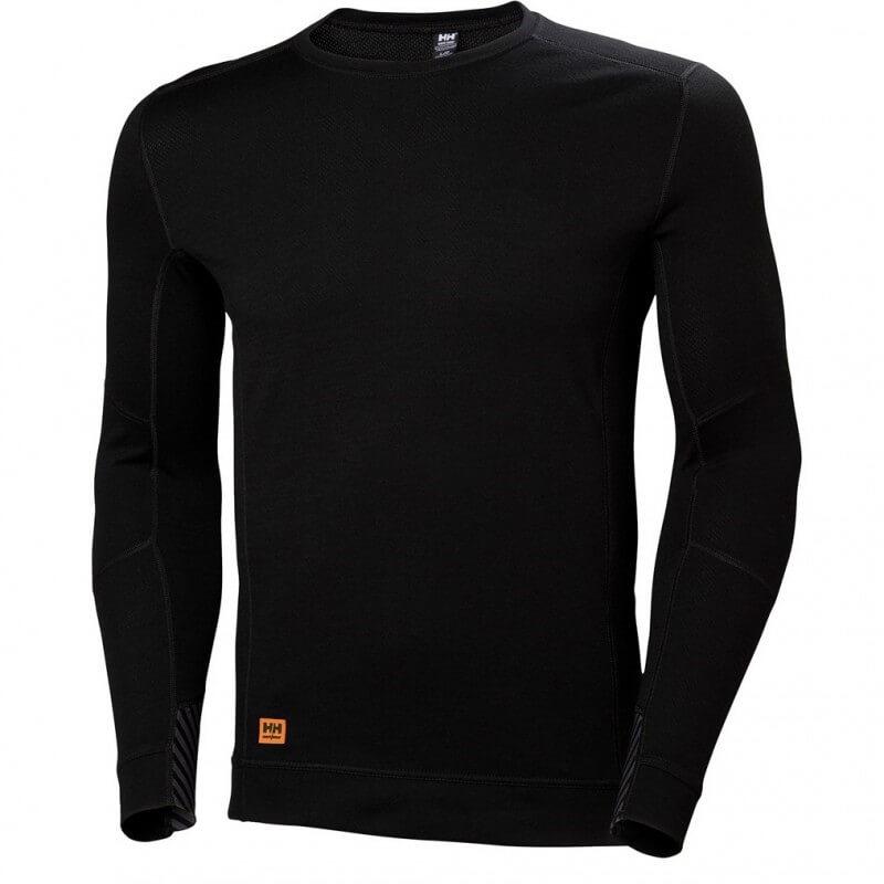 Apatiniai marškinėliai HELLY HANSEN HH Lifa Max Crewneck, juodi