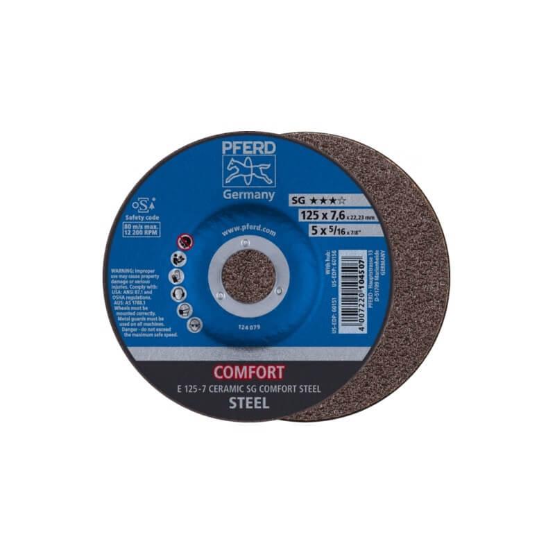 Šlifavimo diskas PFERD E 125-7 Ceramic SG Comfort Steel