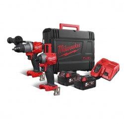 Akumuliatorinių įrankių rinkinys MILWAUKEE M18 FPP2A2-502X