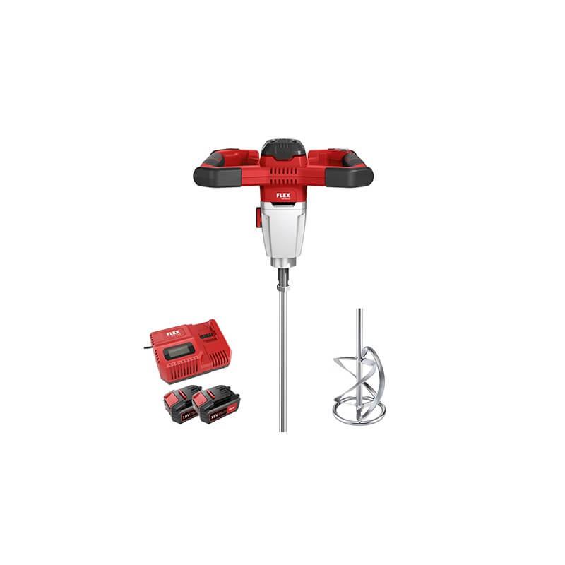 Akumuliatorinė maišyklė FLEX MXE 18,0-EC/5,0 Set + WR3R 120