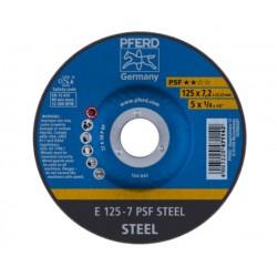 Plieno šlifavimo diskas PFERD PSF Ø125x7x22mm A30