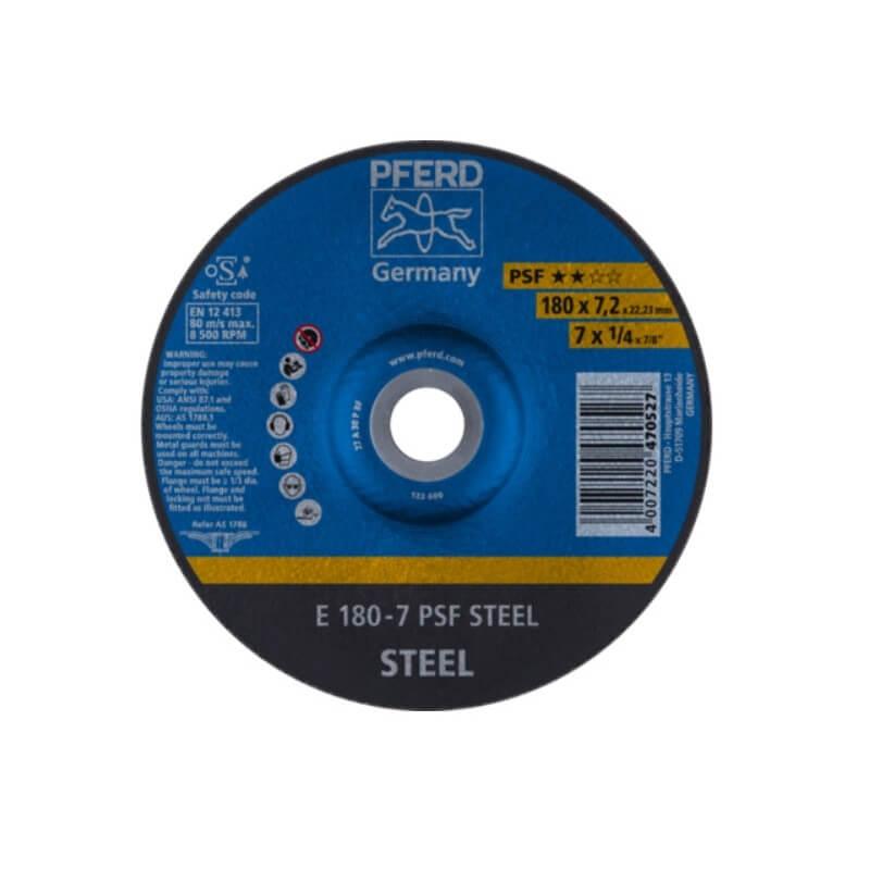 Plieno šlifavimo diskas PFERD PSF Ø178x7x22mm A30