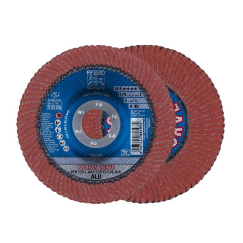 Šlifavimo diskas PFERD PFR125 A40 SGP-Curve L ALU