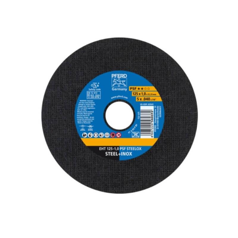 Nerūd. plieno pjovimo diskas PFERD EHT 125x1,0mm A60 P PSF-INOX