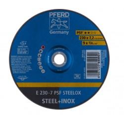 Šlifavimo diskas PFERD E230-7 A24 L PSF-INOX