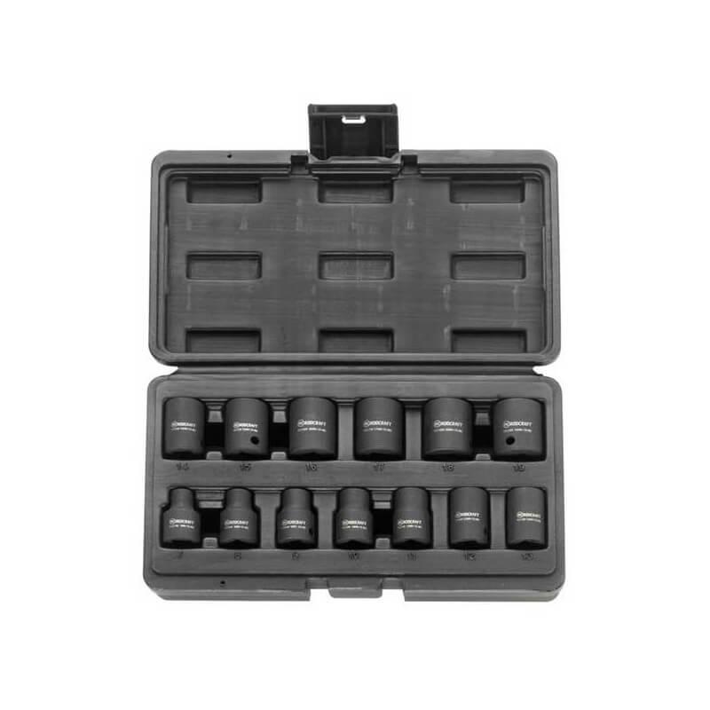 """Smūginių galvučių rinkinys RODCRAFT RS3113 3/8"""" 7-19mm"""
