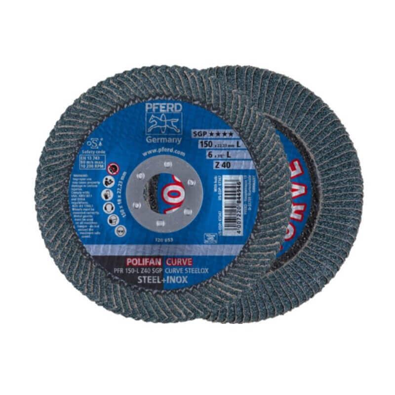 Šlifavimo diskas PFERD PFR 150 Z40 SGP-CURVE L