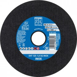 Nerūd. plieno pjovimo diskas PFERD EHT125-1,0mm SG INOX