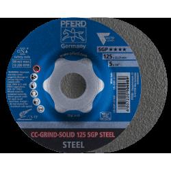 Šlifavimo diskas CC-Grind-Solid 125 SGP Steel Delta