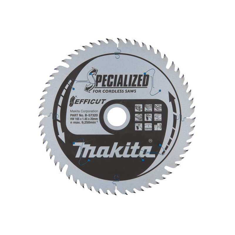 Medžio pjovimo diskas MAKITA Efficut 165x20x2,0 Z60