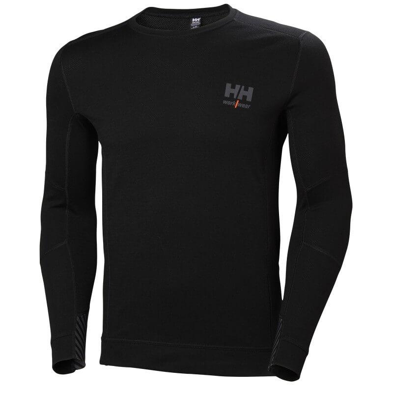 Apatiniai marškinėliai HELLY HANSEN HH Lifa Merino Crewneck, juodi