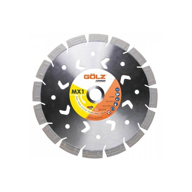 Deimantinis diskas GOLZ MX1 230x22,2mm