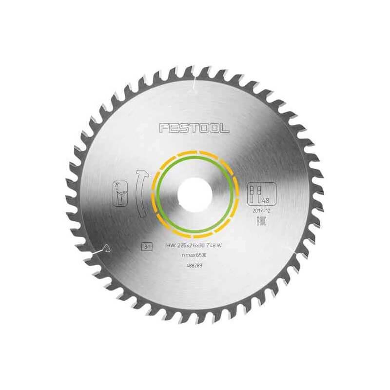 Smulkių dantukų pjovimo diskas FESTOOL 225x2,6x30 W48