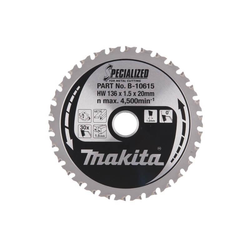 Medžio pjovimo diskas MAKITA 136x20x1,5 30T, 0°, DCS550