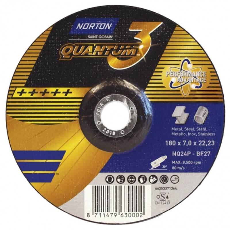 Šlifavimo diskas SAINT-GOBAIN Nor-Quantum3 NQ24P-BF27 180mm