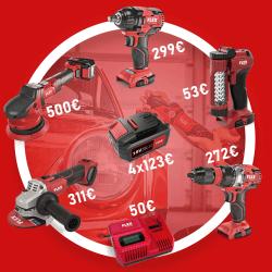 Akumuliatorinių FLEX įrankių rinkinys automobilistui