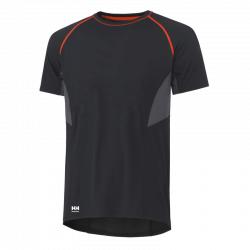 Marškinėliai Lifa-Cool Viborg T HELLY HANSEN juodi