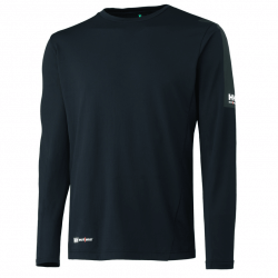 Marškinėliai ilgomis rankovemis Lifa-Cool Odense HELLY HANSEN, juodi