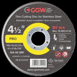 Pjovimo diskas CGW INOX WA 36 SBF 125x2,0x22,23mm