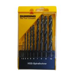 HSS grąžtų rinkinys GUHRING Powerline 1-10mm