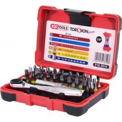 """32 dalių įrankių rinkynis KS TOOLS """"TORSIONpower"""" 1/4"""""""