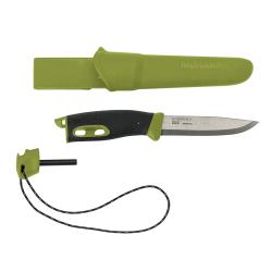 Peilis su skeltuvu MORA Companion Spark, žalias