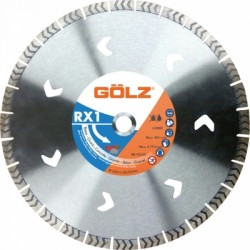 Deimantinis diskas betonui GOLZ Whisper RX1 Ø400x25,4