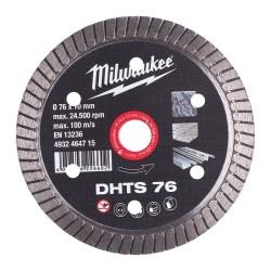 Deimantinis diskas MILWAUKEE DHTS 76 76x10mm