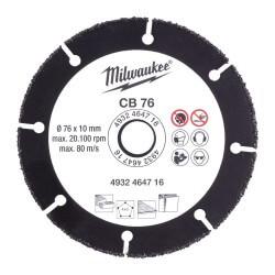 Karbidinis diskas MILWAUKEE CB 76 76x10mm