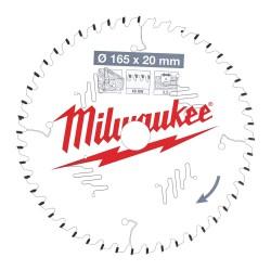 Medžio pjovimo diskas MILWAUKEE CSB P W 165x20x2,2 48ATB