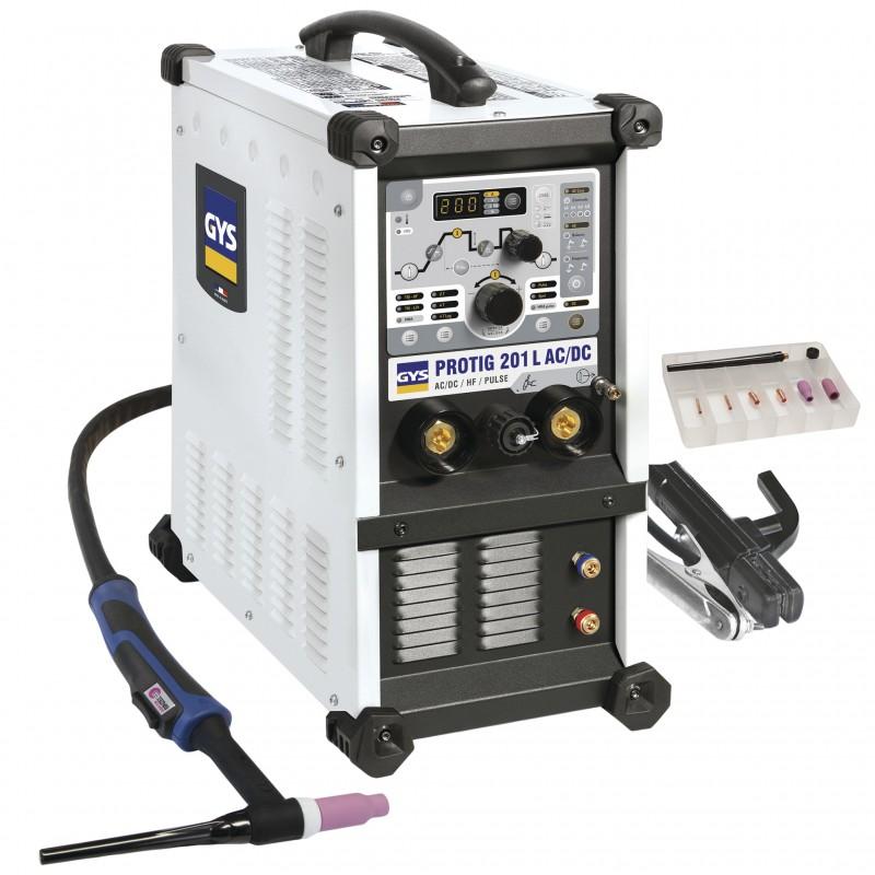 Suvirinimo aparatas GYS Protig 201 AC/DC HF su aušinimu - Gitana.lt