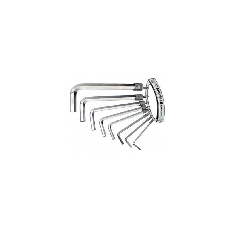 Šešiakampių raktų rinkinys 10760 CV R/8 STAHLWILLE