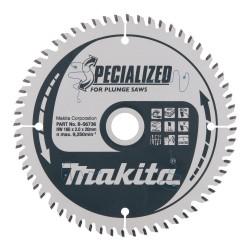 MDF pjovimo diskas MAKITA 165x20x2,1mm 60T