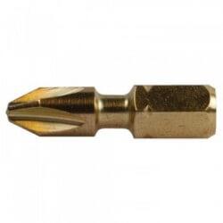 5 vnt. Torsion sukimo antgalių PH 2-25mm MAKITA B-28357