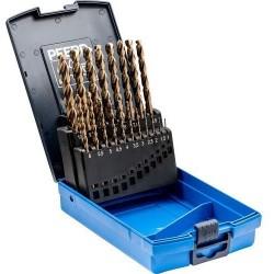 19 dalių metalo grąžtų rinkinys PFERD DIN338 HSSE N 1-10 Inox