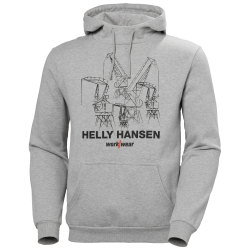 Džemperis HELLY HANSEN Manchester Graphic Hood, pilkas