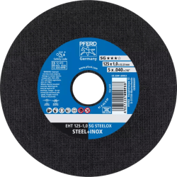 Nerūd. plieno pjovimo diskas PFERD EHT 125x1,0mm A60 R SG-INOX