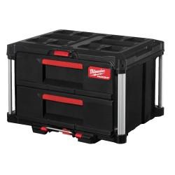 Įrankių dėžė su 2 stalčiais MILWAUKEE Packout