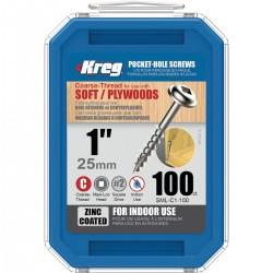 Maxi-Lock varžtai stambiu sriegiu KREG SML-C1-100-INT 25mm, 100vnt.