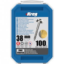 Maxi-Lock varžtai stambiu sriegiu KREG SML-C150-100-INT 38mm, 100vnt.