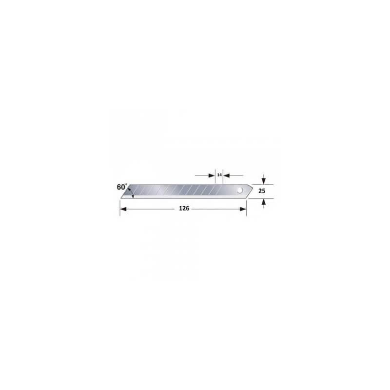 Laužomos geležtės 25mm TAJIMA