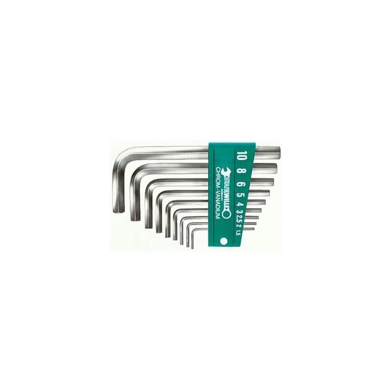 Šešiakampių raktų rinkinys 10760 CV/9PC STAHLWILLE