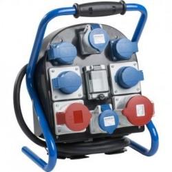 Mobili el. paskirstymo dėžė 1x400V/32A, 1x400V/16A, 6x230v/16A AS-SCHWABE